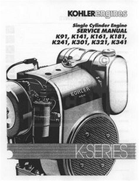 Kohler K Series K91 K161 K181 Engine Service Manual | eBay