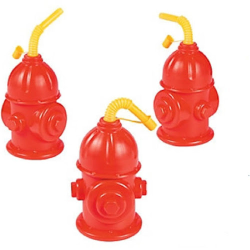 Fire Hydrant Cups with Straws (8)
