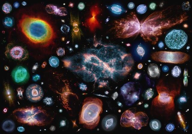 100 nebulosas planetarias en una imagen