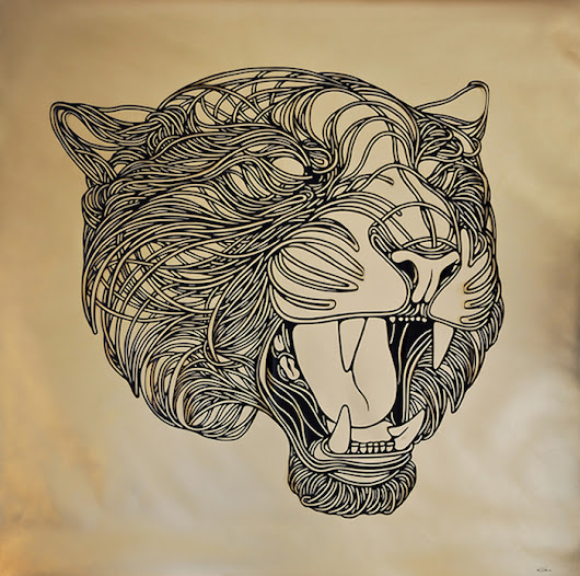 Intricately-Detailed Paper Cut Animals Mimic Ink-Drawn Lines