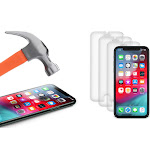 ShatterGuardz Tempered Glass Screen Protectors for iPhones 3 Pack iPhone 8/7/6