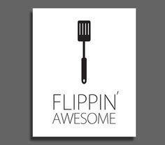 Flippin' Awesome Spatula Kitchen Art by CoriNicholsDesigns on Etsy, $10.00