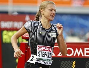 Yulia Stepanova durante sua participação, como atleta independente, no Europeu de Atletismo (Foto: Reuters)