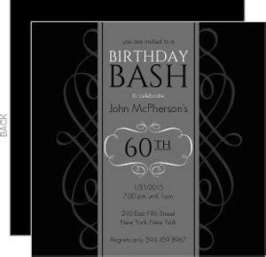 Cheap 60th Birthday Invitations & Inexpensive 60th