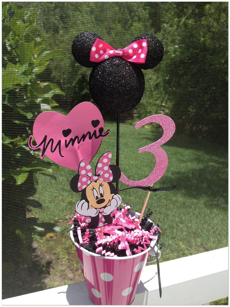 minnie mouse party ideas for 2nd birthday   Minnie Mouse Birthday Centerpiece by RaeofSunshinedesign on Etsy