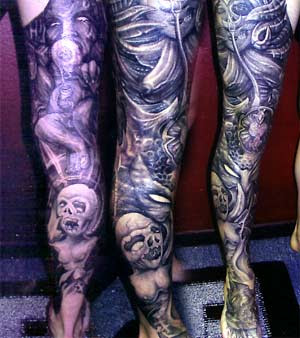 Dark Tattoos on Inspiration   Worlds Best Tattoos   Tattoos   Movie Horror   Dark Leg