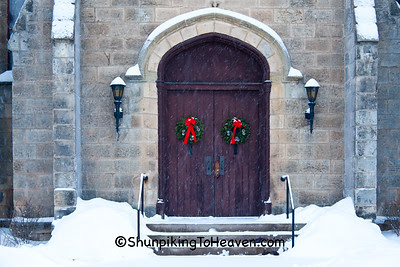 Doors of First Methodist Church, Mineral Point, Wisconsin