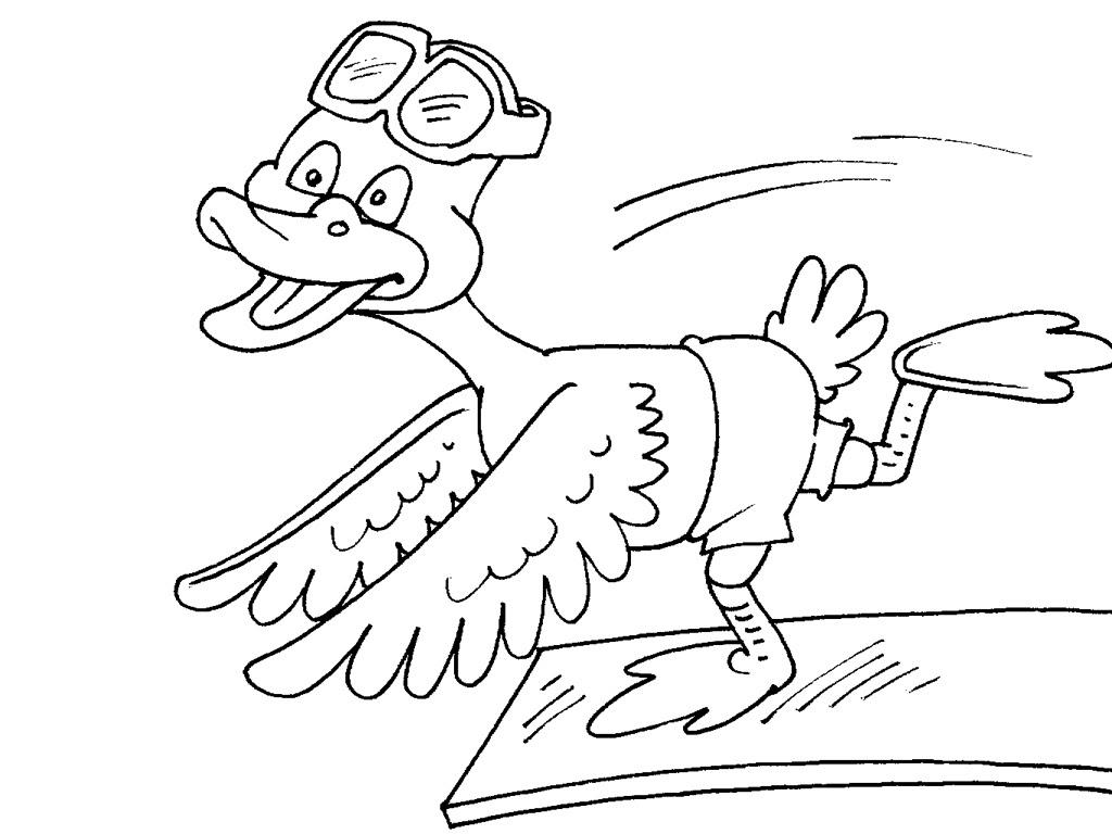 dessin de canard Coloriage