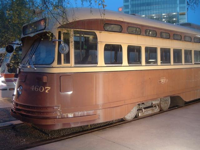 Ex-TTC 4607 transit car in Phoenix