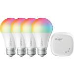 Sengled Smart LED Multicolor A19 Starter Kit, 60W Equivalent Bulbs, 4 Light Bulb