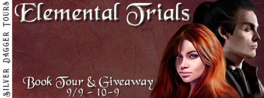 Book Tour Banner for the books of the Elemental Trials romantic fantasy series by Ronelle Antoinette with a Book Tour Giveaway