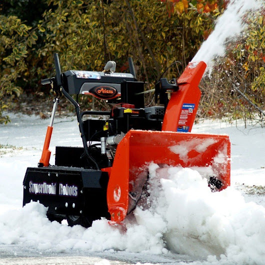 Snow Blower Robot to clear your driveway and sidewalk