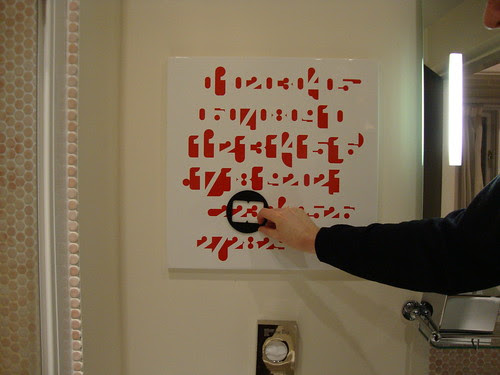 calendar in the bathroom
