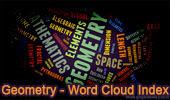 Geometry Word Cloud Index.