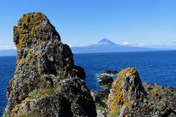 """""""Vista de la Isla de Pico desde la Isla de San Jorge, Azores"""""""