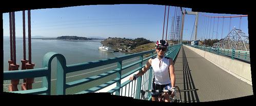 Tricia on bridge