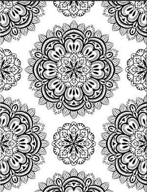 58 Geometric Flower Coloring Pages  Images
