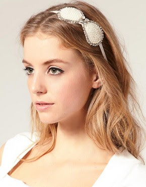 Image 1 of Oasis Pearl Bow Hair Band
