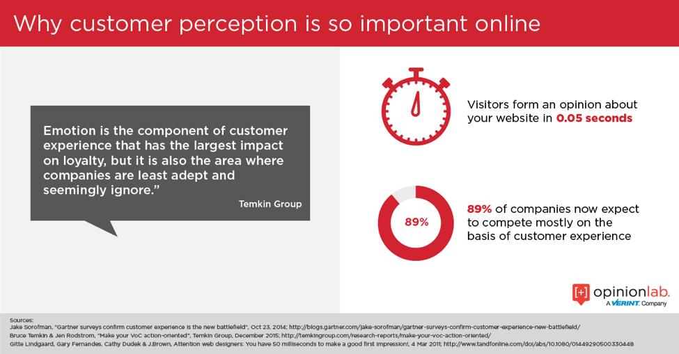 Infographic highlighting how online customer perception will make or break your website redesign