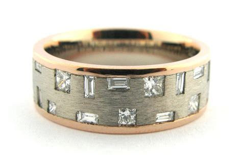 Two toned geometric diamond set ring   Browse   MAX Diamonds