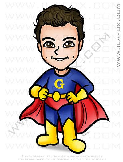 Caricatura infantil, caricatura para criança, caricatura desenho, caricatura super herói, caricatura menino, by ila fox