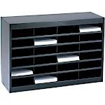 Safco E-Z Stor Literature Organizer - Sorter - 5 shelves - powder-coated steel - black