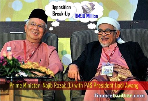 Najib Razak and Hadi Awang - Opposition Break-Up and RM90 Million
