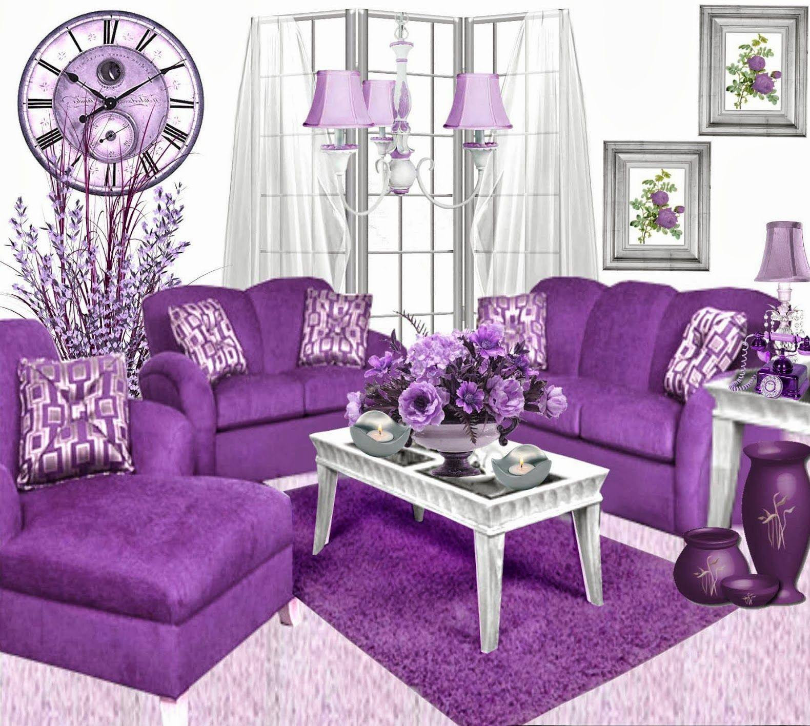 Purple Living Room Ideas - Terrys Fabrics's Blog