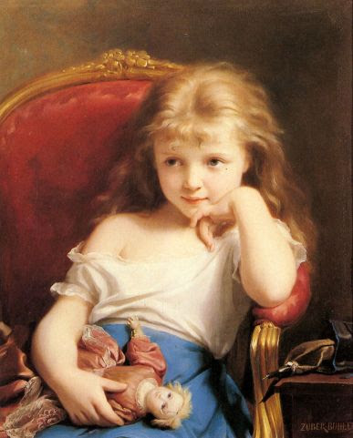 small_Young Girl Holding A Doll