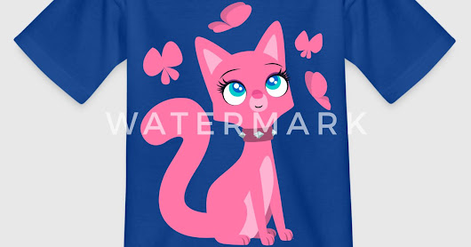 Rosa Katze und Schmetterlinge - Cheerful Madness!! von cheerfulmadness | Spreadshirt