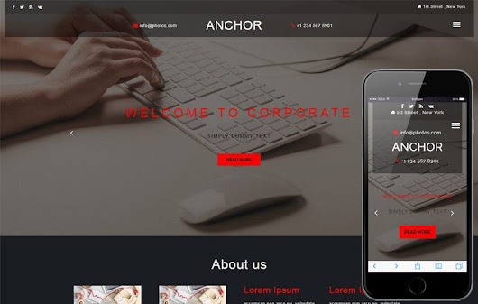 Anchor a Corporate Category Bootstrap Responsive Web Template