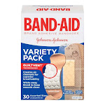 Band-Aid Tough And Sport Strip Adhesive Bandages, Variety Pack - 30 Ea