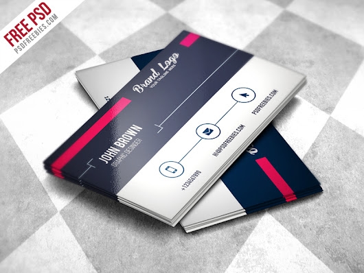 Modern Business card Design Template Free PSD - PSDFreebies.com