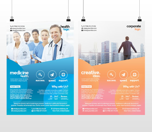 Business and Medicine Health - Free PSD Flyer Template to Download - Stockpsd.net