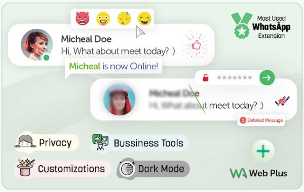 WA Web Plus for WhatsApp y sus diferentes herramientas