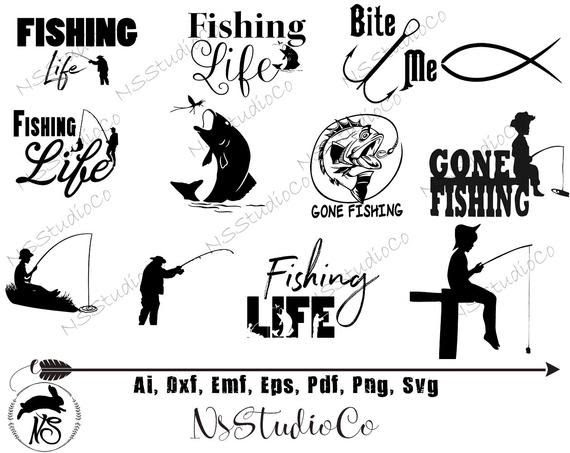 Download 74 Silhouette Fishing Life Svg Svg Png Eps Dxf File