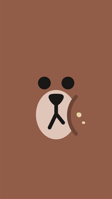 chractor cute brown illustration art wallpaper hd
