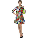 Day Of The Dead Dress & Jacket Adult Costume Small