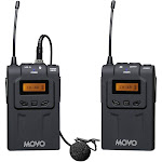 Movo WMIC70 Wireless 48-Channel UHF Lavalier Microphone System with Omni-Lav &