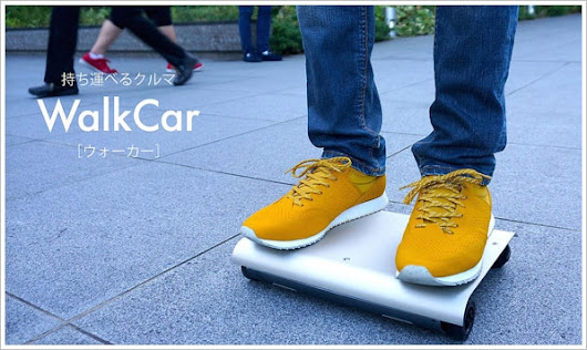 WalkCar – an electric personal transporter the size of a laptop