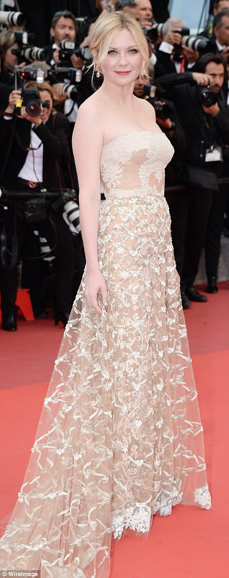 Looking good: Kirsten Dunst made yet another savvy sartorial choice as she stepped out for Cannes Film Festival's Palme D'Or Award and closing ceremony on Sunday evening