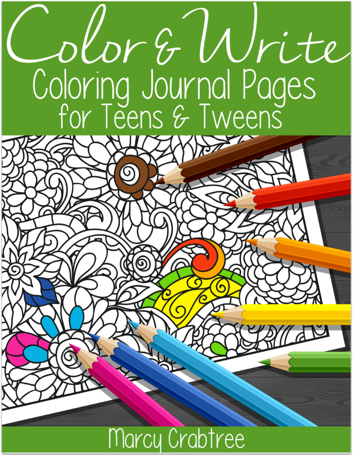 Free Printable Coloring Journal Pages for Tweens and Teens ...