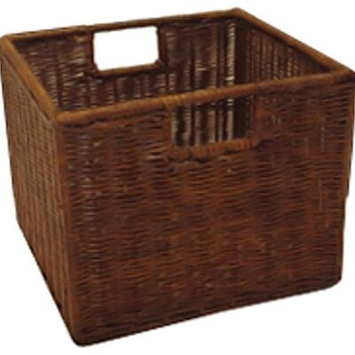 Espresso Wicker Basket