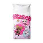 L.O.L Surprise! Glitterful Comforter (Twin), Pink