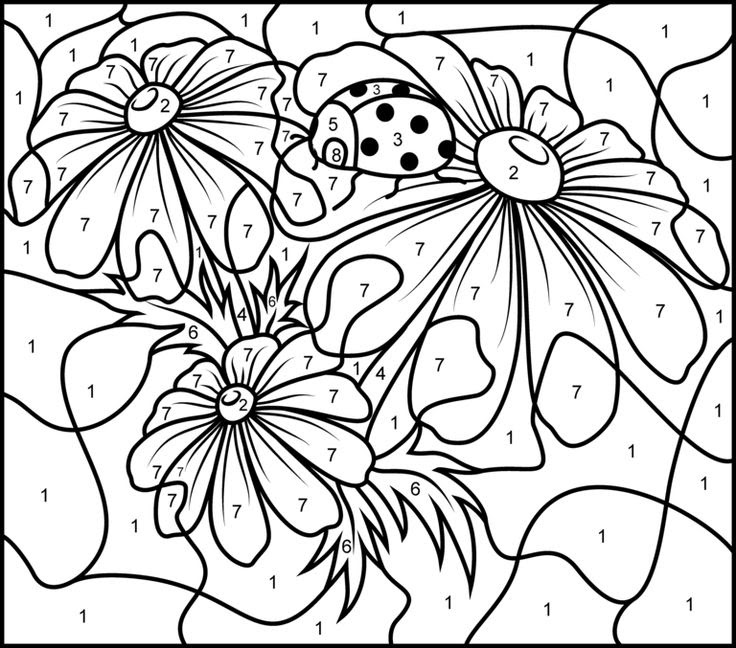 Color By Number Coloring Pages For Adults at GetDrawings ...