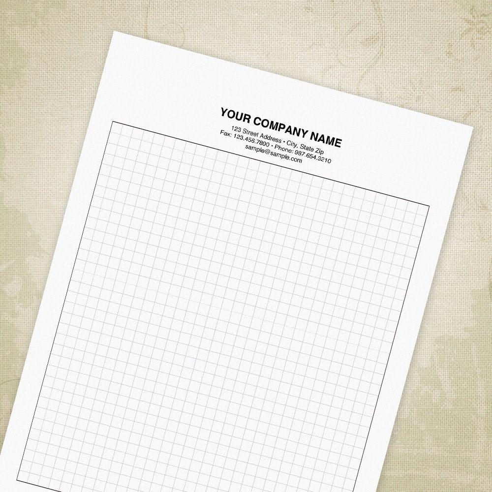 Graph Paper PDF Editable Custom Template by moderntypedesigns