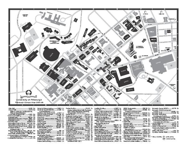 Pitt Campus Map