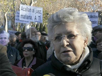 Bardem, durante la protesta hace unos dñias contra el juicio al juez Garzón. EFE