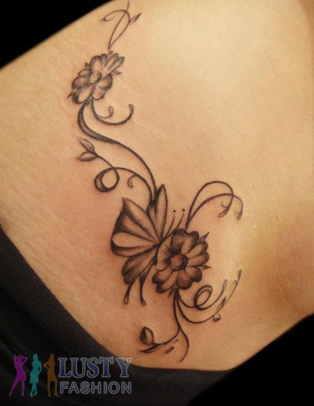 Pictures Of Tattoos For Girls Flowers And Stars Rock Cafe