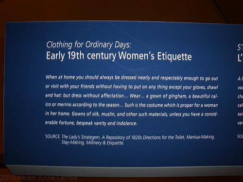 1820s Dress Etiquette